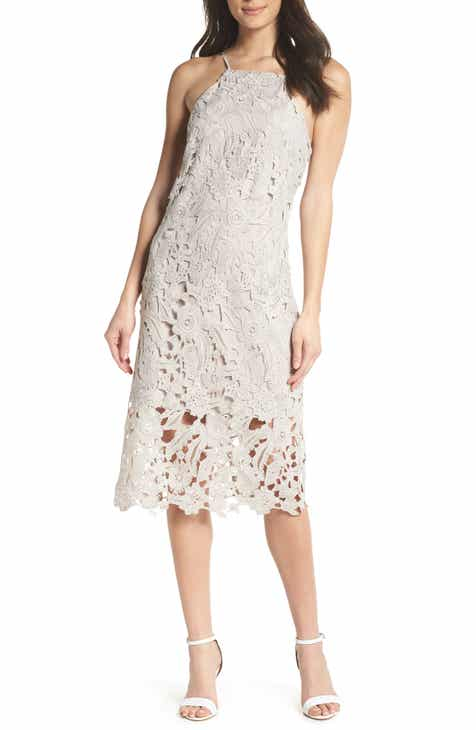 Sam Edelman Halter Top Lace Dress by SAM EDELMAN