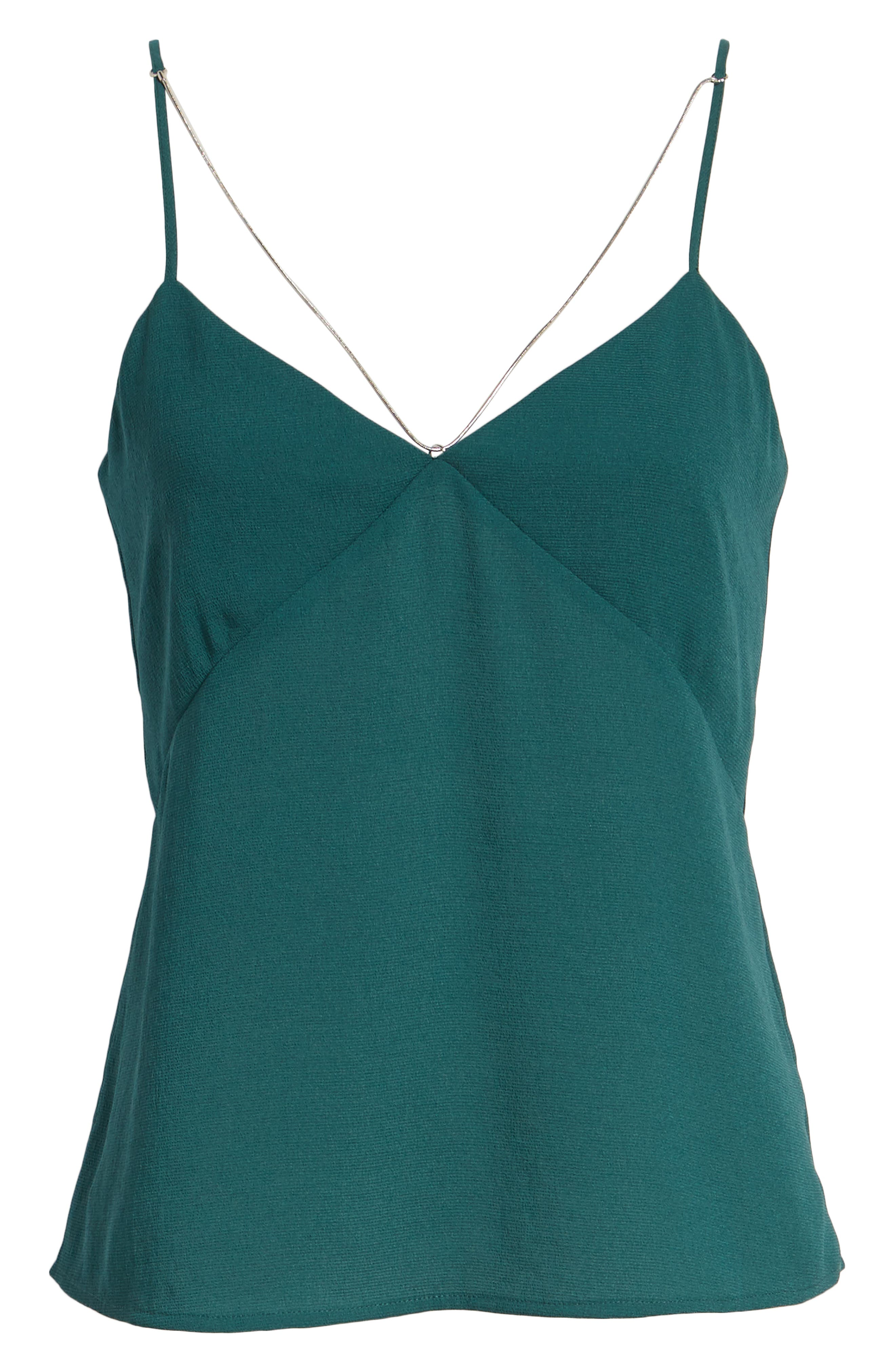 Chain Detail Camisole,                             Alternate thumbnail 6, color,                             Green Bug