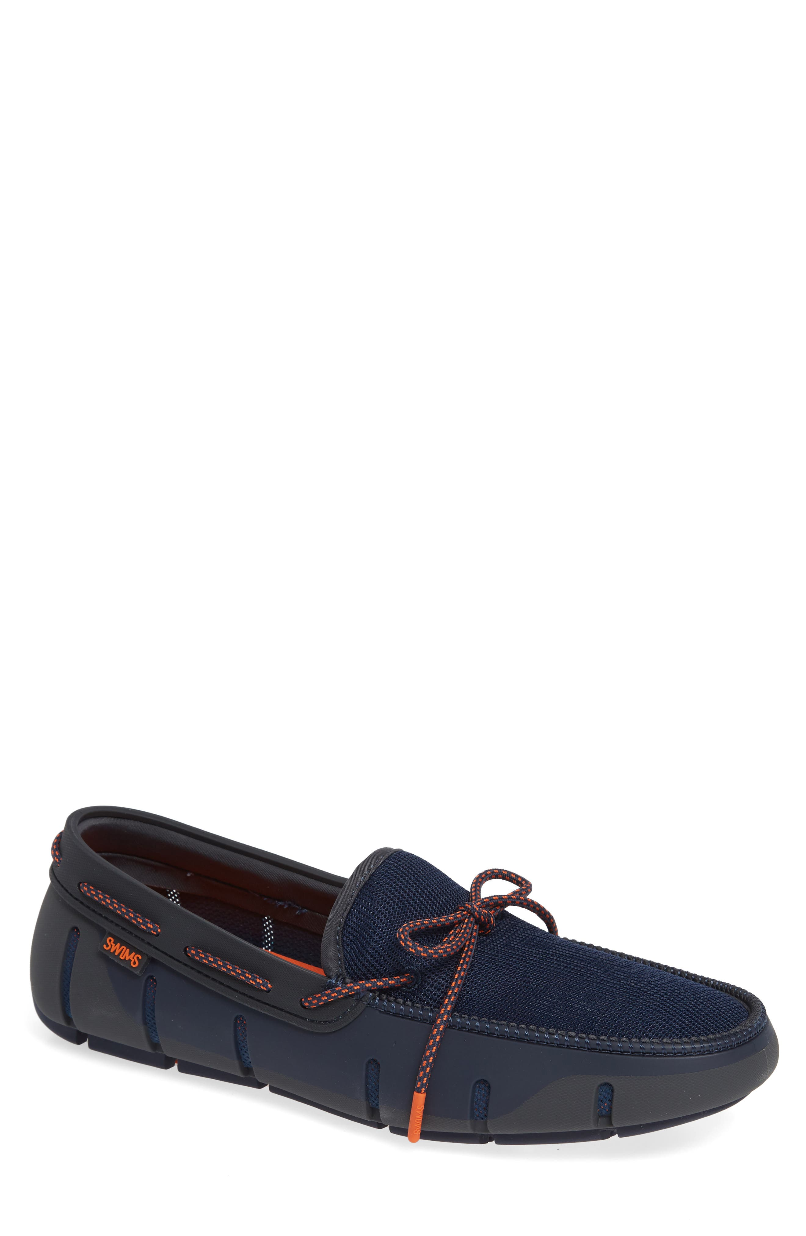 Stride Lace Loafer,                             Main thumbnail 1, color,                             Navy/ Dark Gray