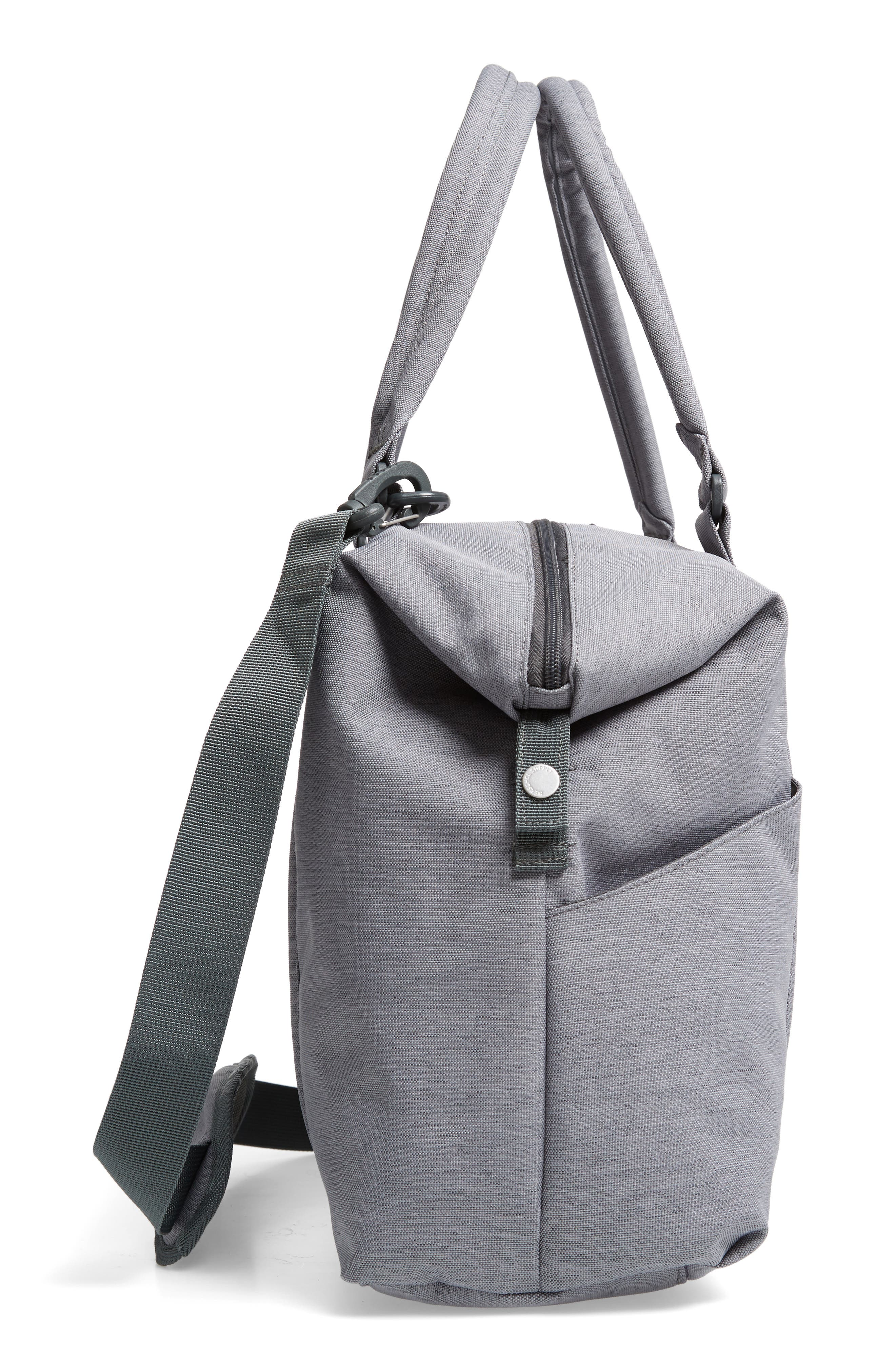Strand Sprout Diaper Bag,                             Alternate thumbnail 5, color,                             Mid Grey Crosshatch