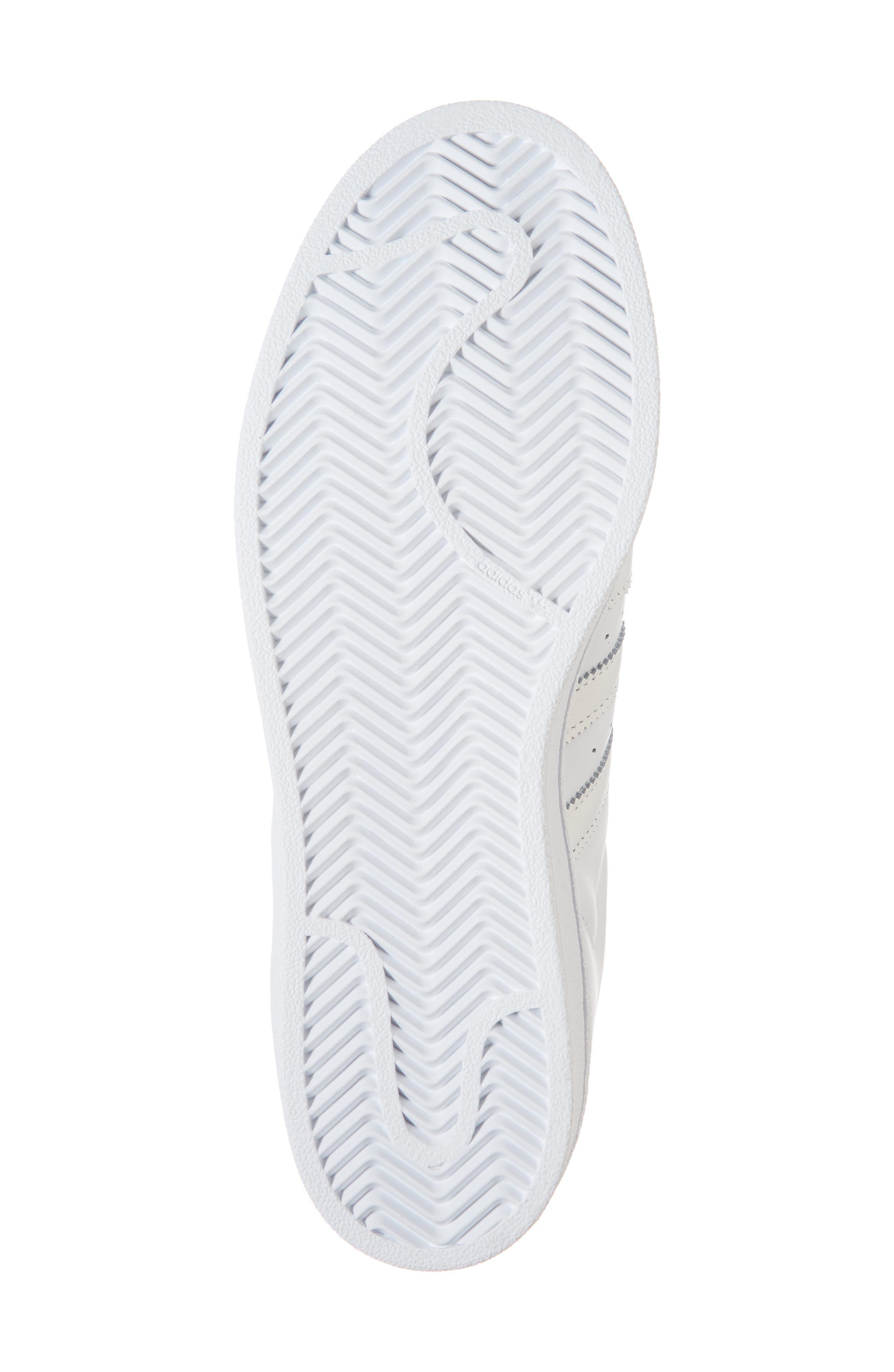 Superstar Sneaker,                             Alternate thumbnail 3, color,                             White/ White/ Grey One