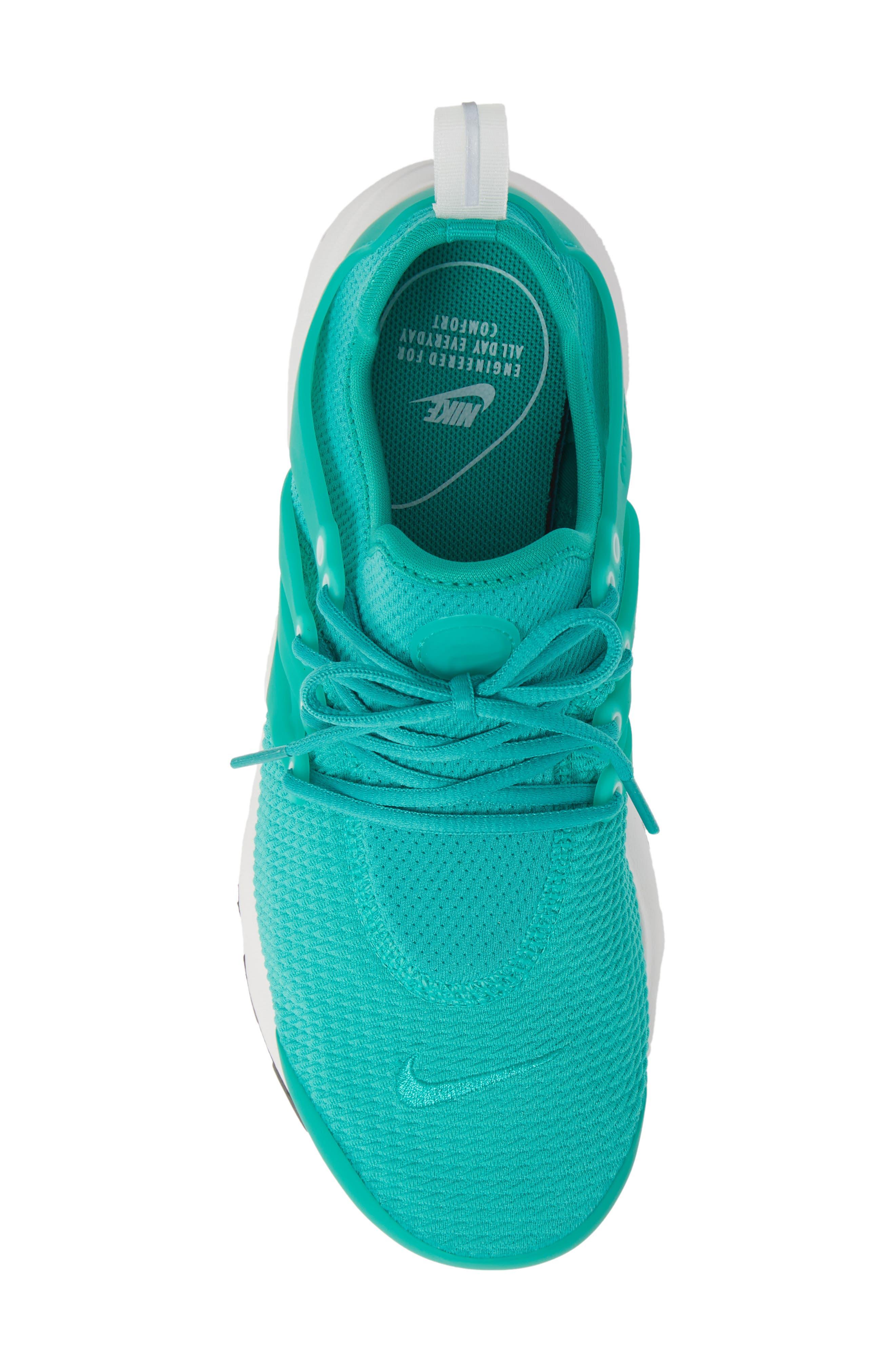 Air Presto Sneaker,                             Alternate thumbnail 3, color,                             Clear Emerald/ Summit White