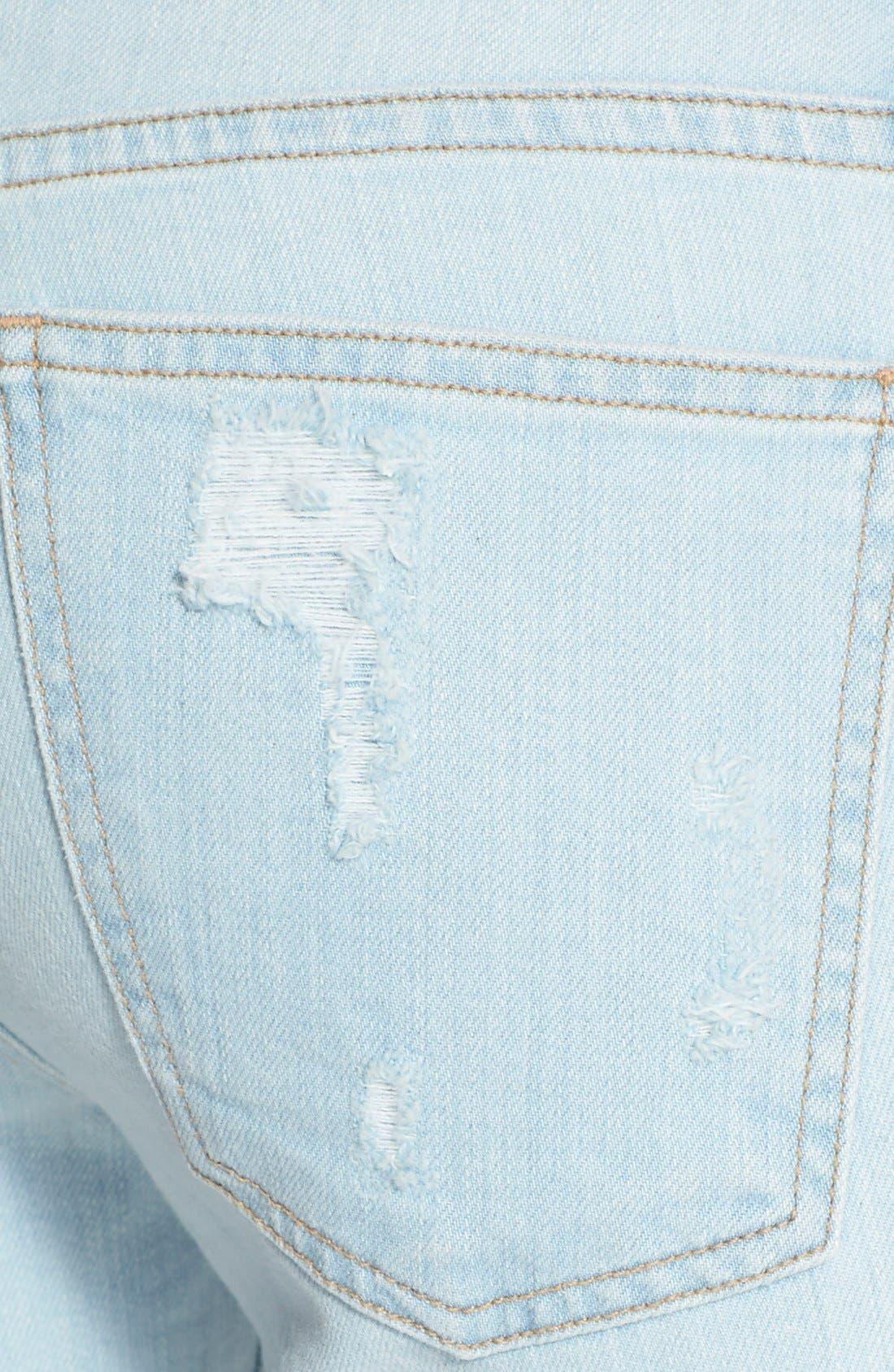 Alternate Image 2  - Current/Elliott 'The Stiletto' Destroyed Skinny Jeans (Chalky Indigo Shredded)