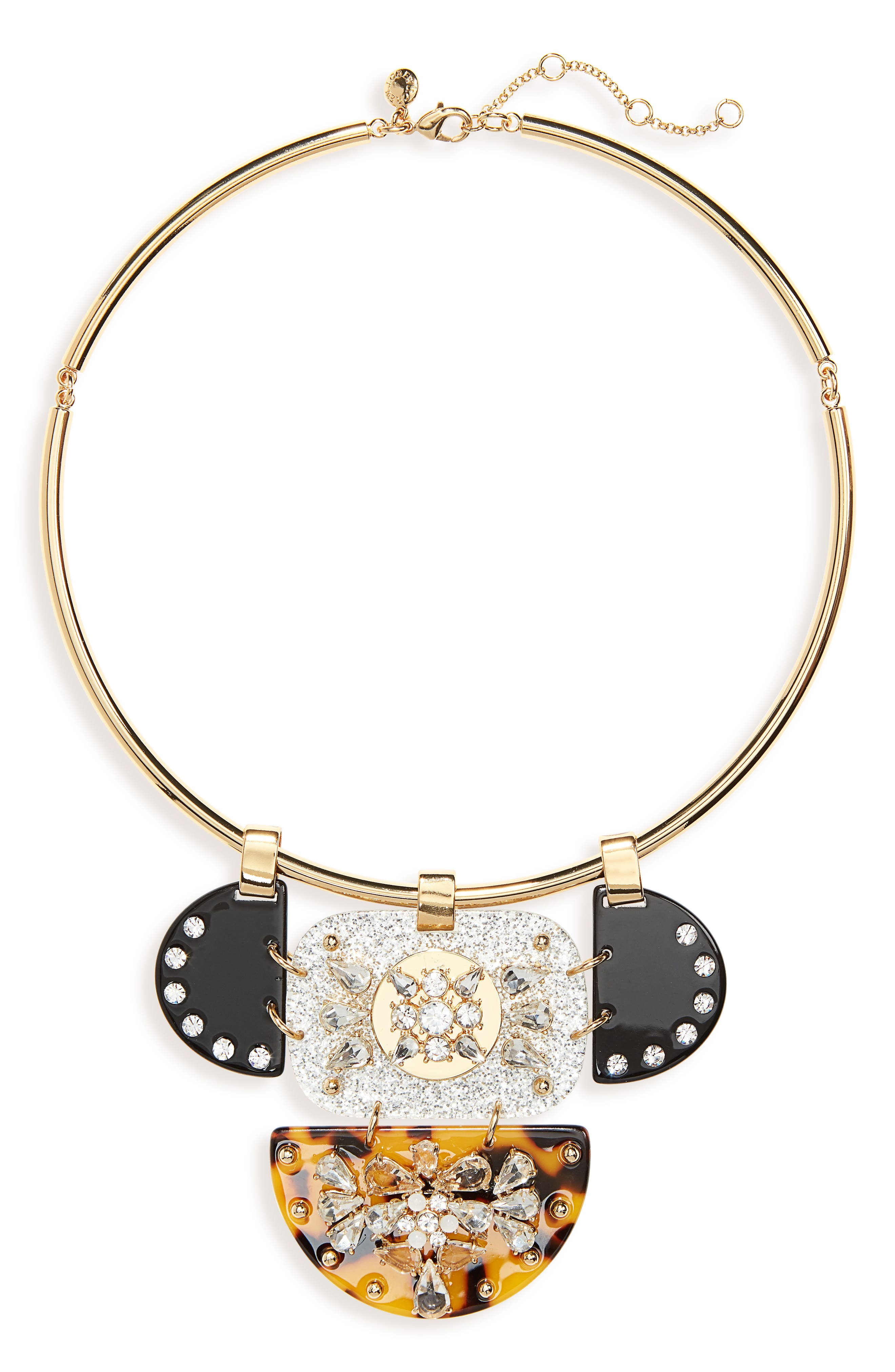 J.CREW CRYSTAL & LUCITE COLLAR NECKLACE