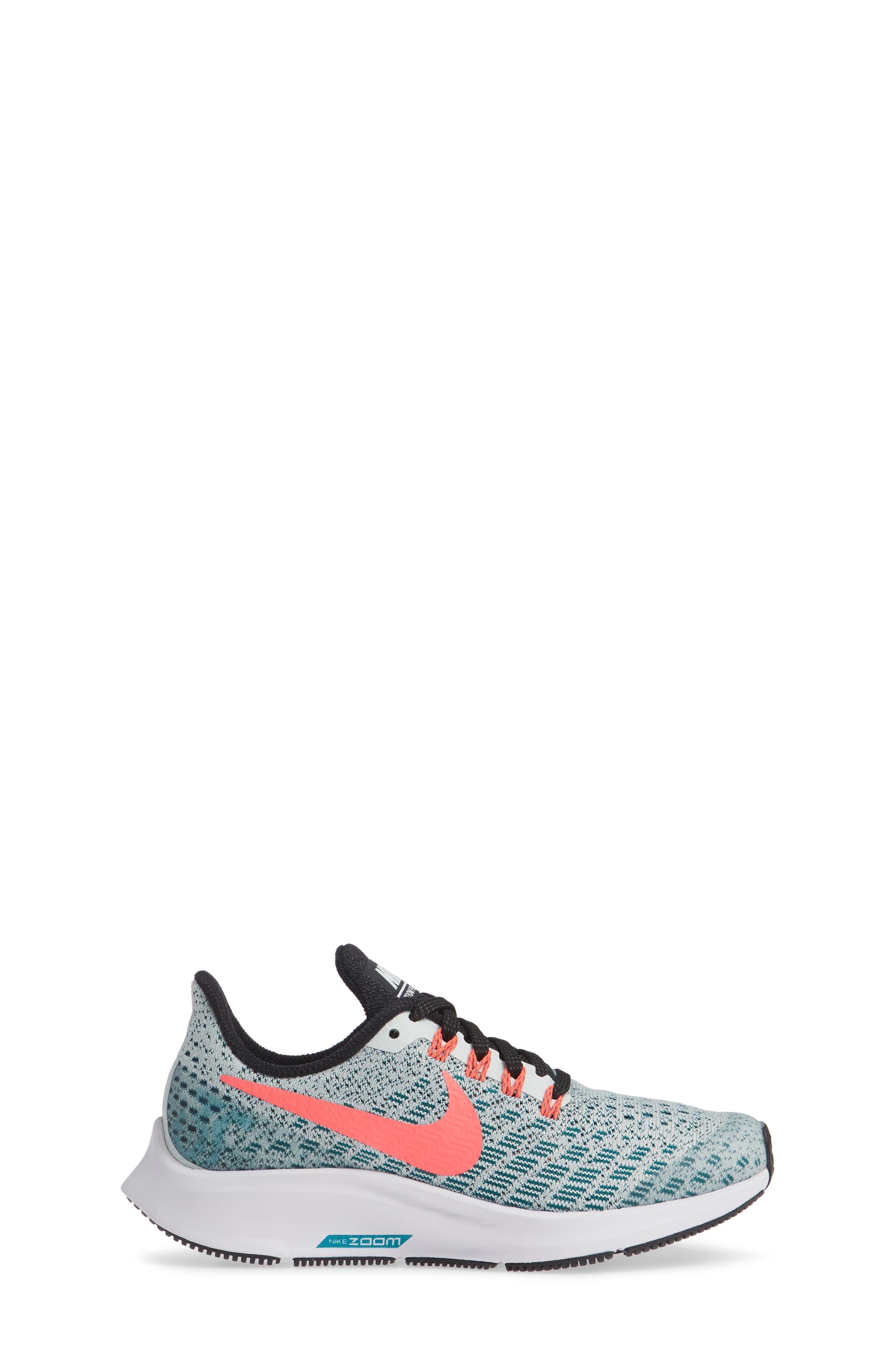Air Zoom Pegasus 35 Sneaker,                             Alternate thumbnail 3, color,                             Grey/ Hot Punch/ Teal/ Black