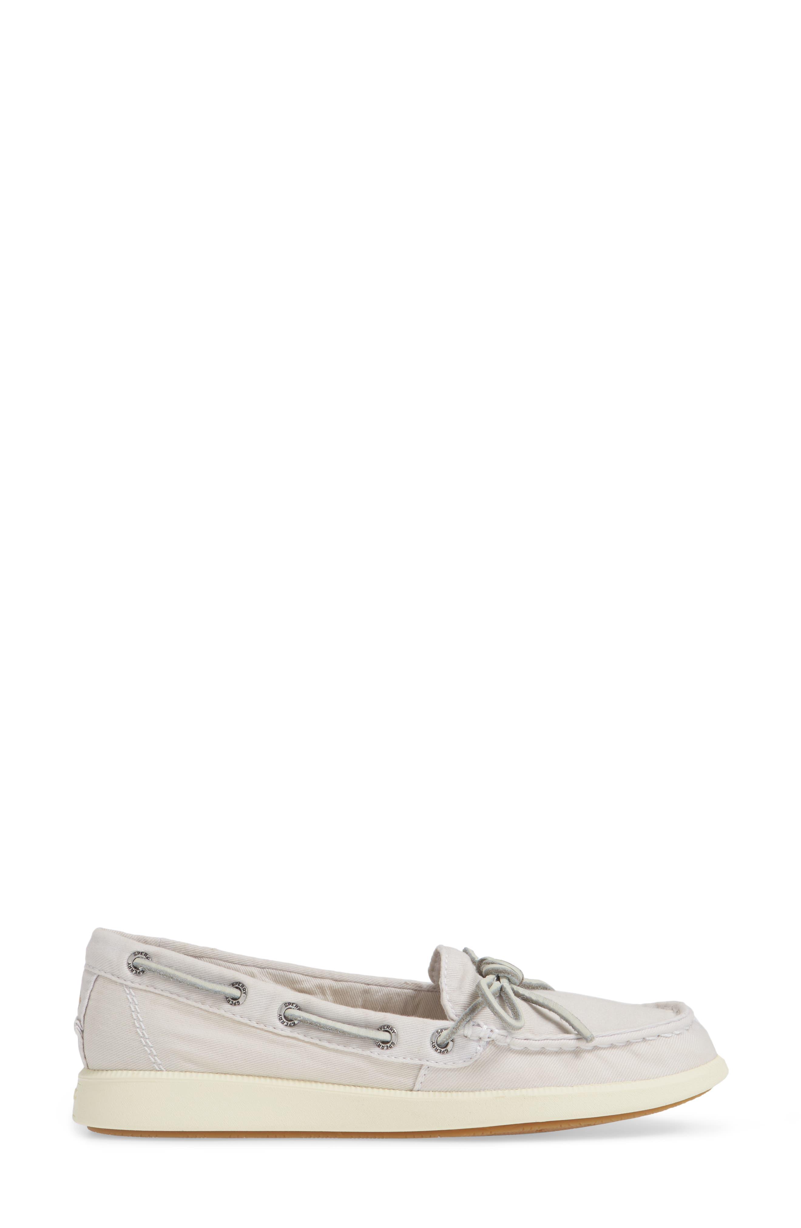 Oasis Boat Shoe,                             Alternate thumbnail 6, color,                             Ivory Canvas