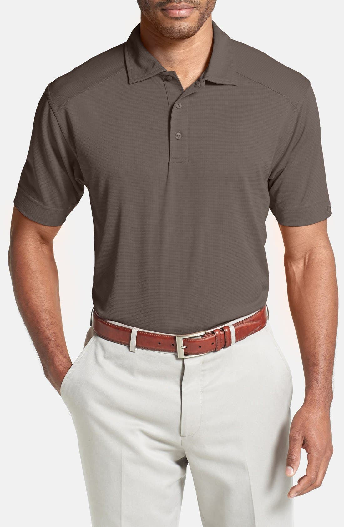 Genre DryTec Moisture Wicking Polo,                         Main,                         color, Circuit Taupe