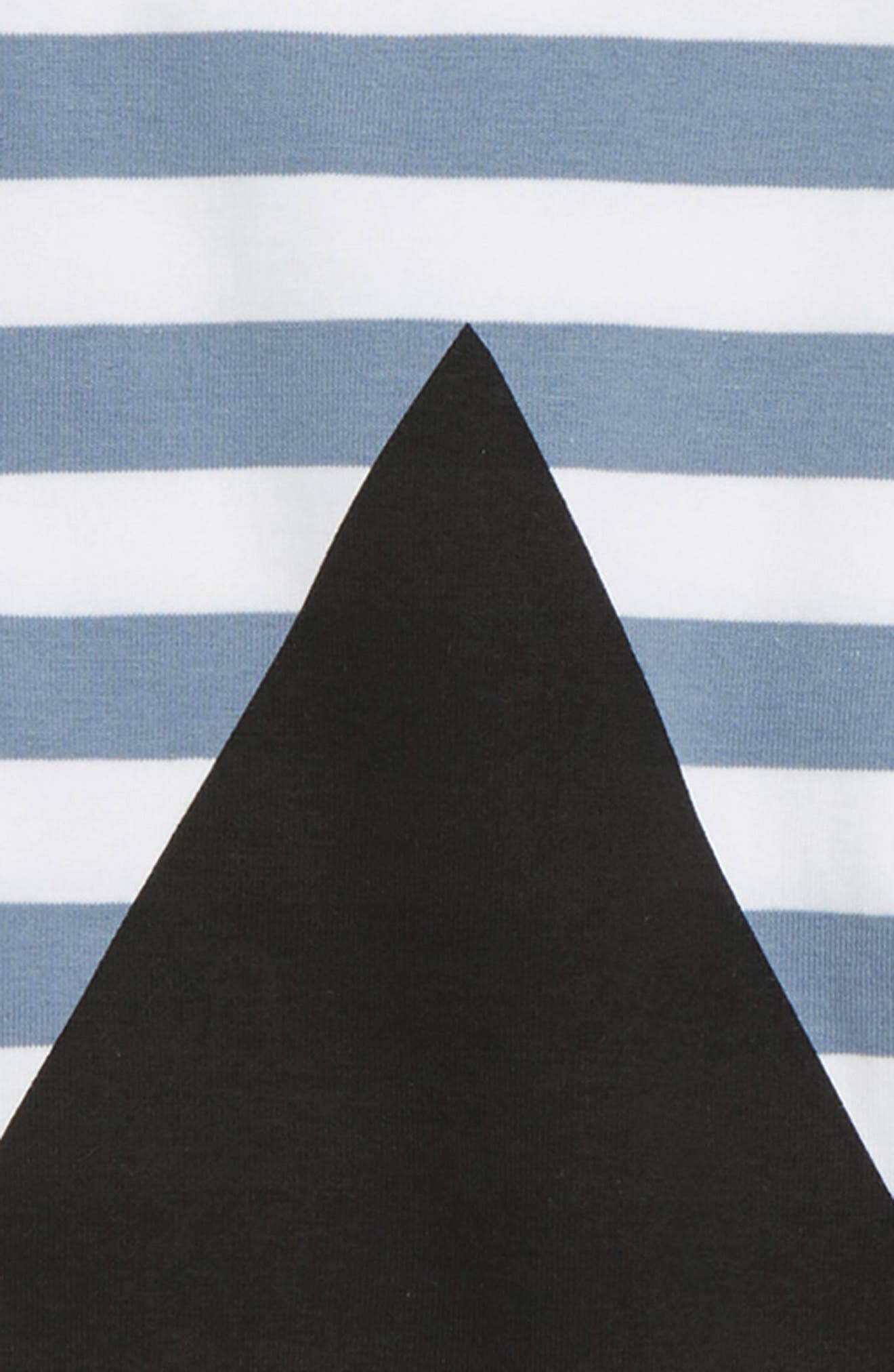 Triangle T-Shirt,                             Alternate thumbnail 2, color,                             Blue/ Black