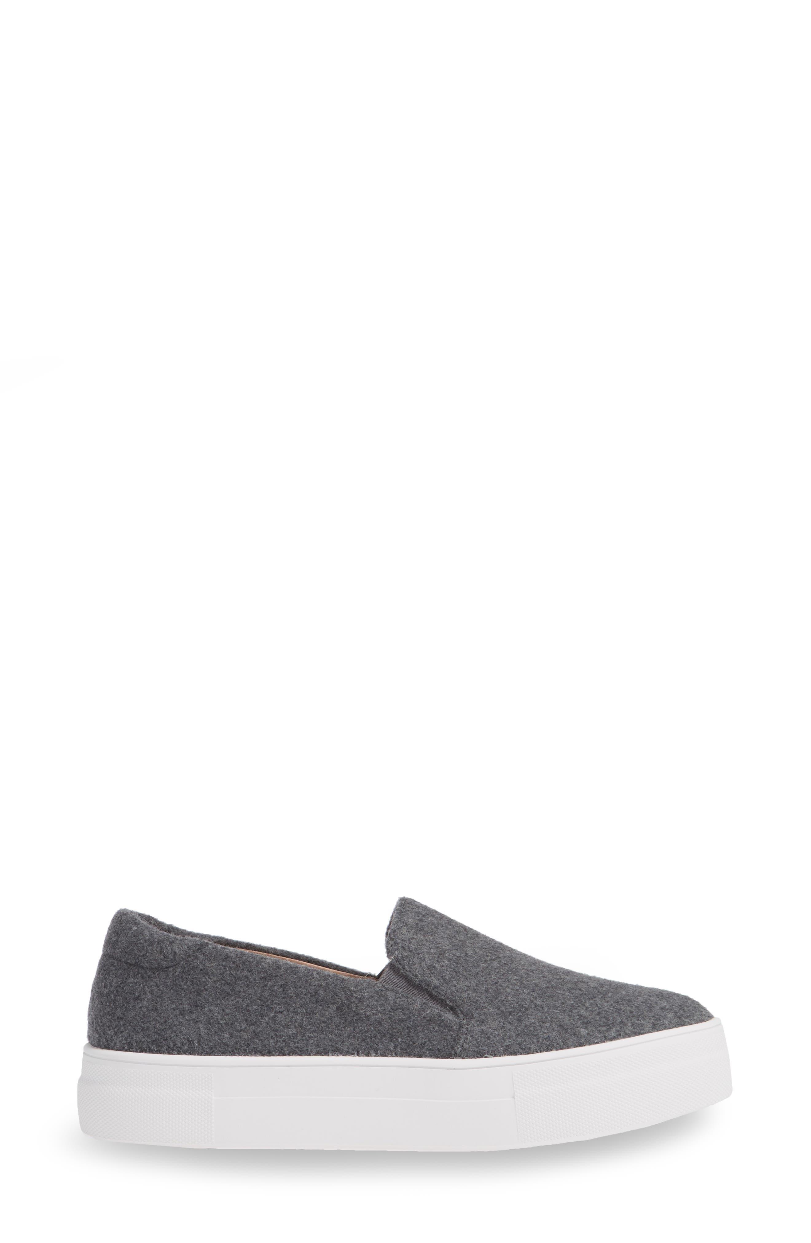 Alden Slip-On Sneaker,                             Alternate thumbnail 3, color,                             Stone Boiled Wool