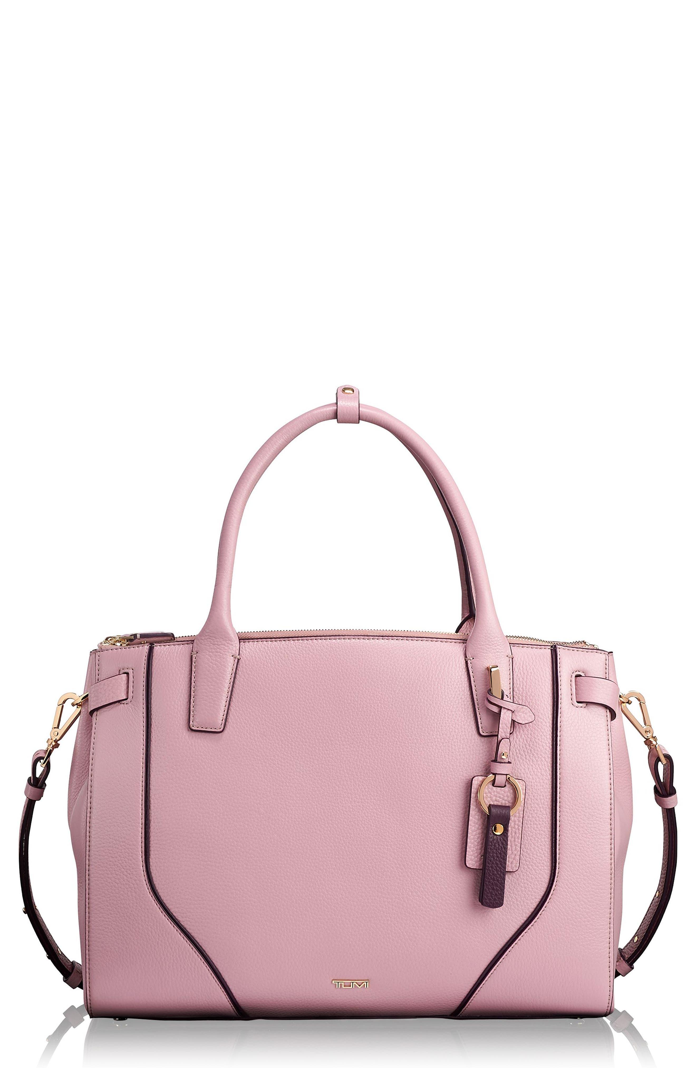 Stanton Kiran Leather Laptop Briefcase,                         Main,                         color, Pink