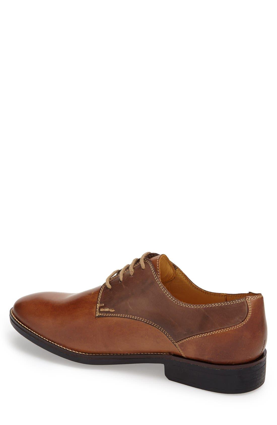 'Olsen' Plain Toe Derby,                             Alternate thumbnail 4, color,                             Brown