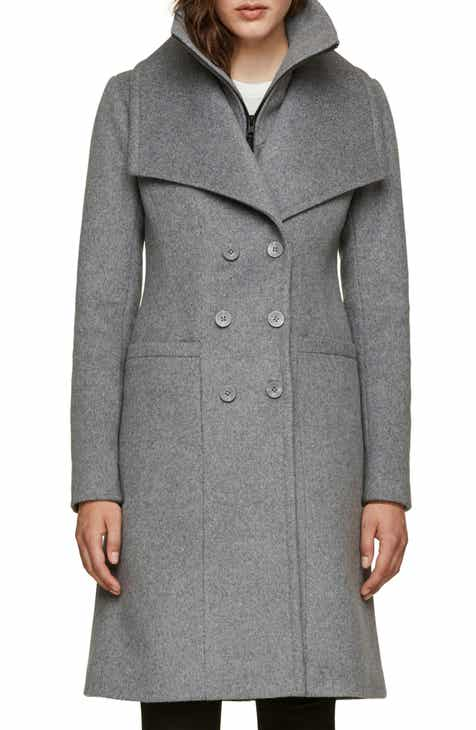 1acbb00d9977 Soia   Kyo Double Collar Slim Fit Wool Coat