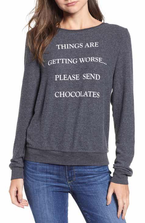 Wildfox Baggy Beach Jumper - Send Chocolates Pullover