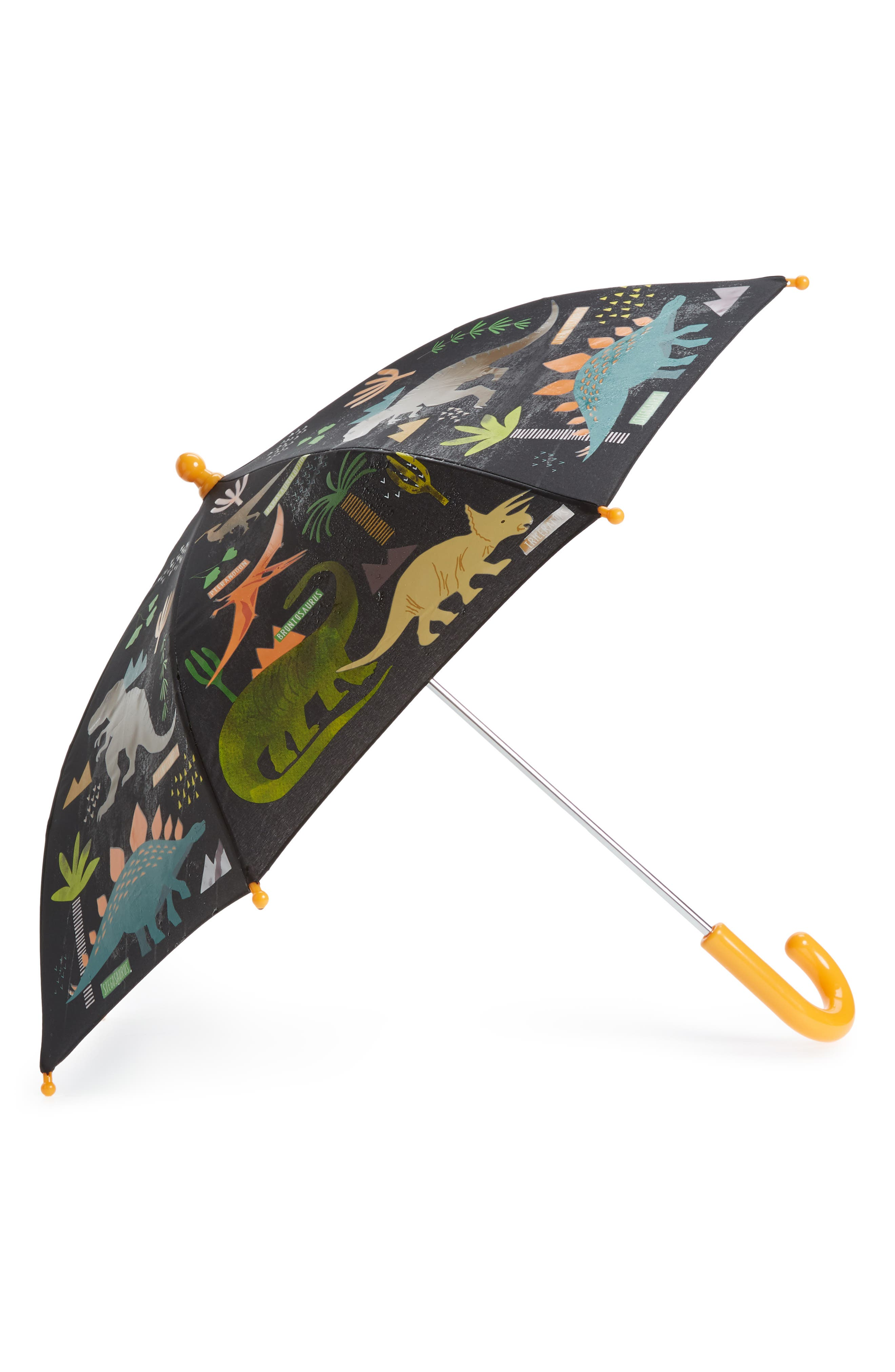 Floss & Rock Dinosaur Color Changing Umbrella,                             Alternate thumbnail 2, color,                             Black