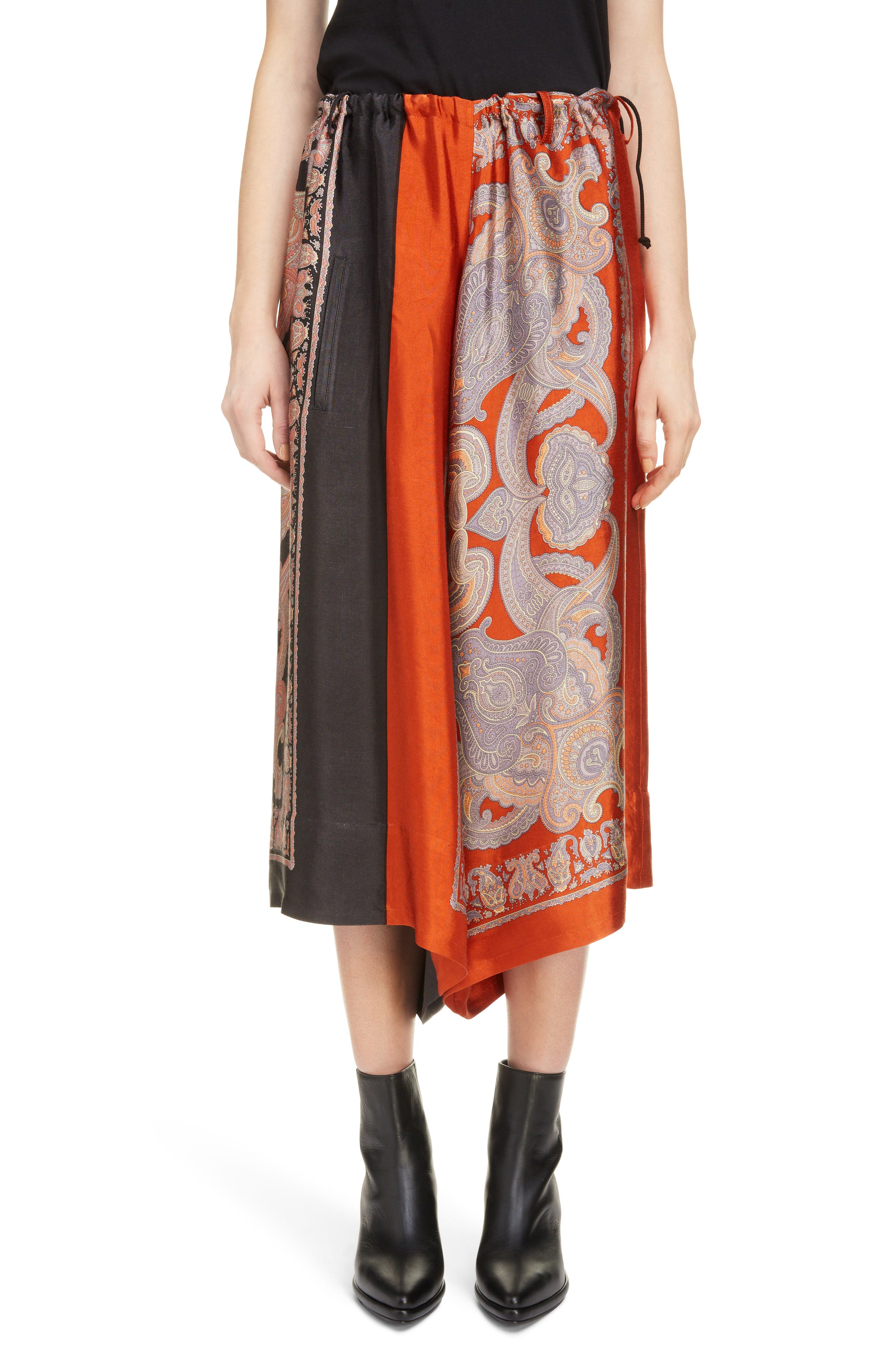 Scarf Culottes,                             Main thumbnail 1, color,                             Red