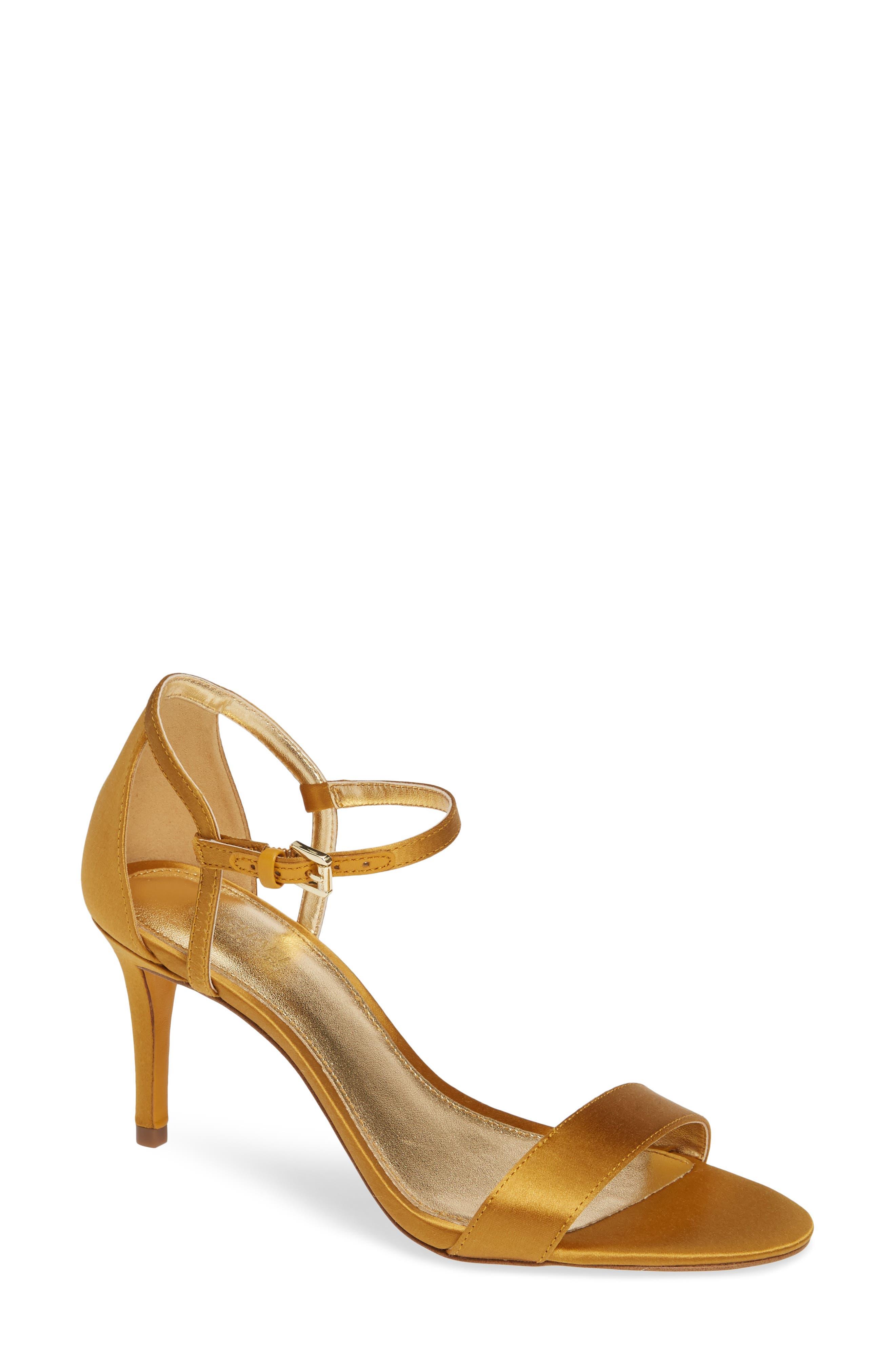 'Simone' Sandal,                             Main thumbnail 1, color,                             Marigold