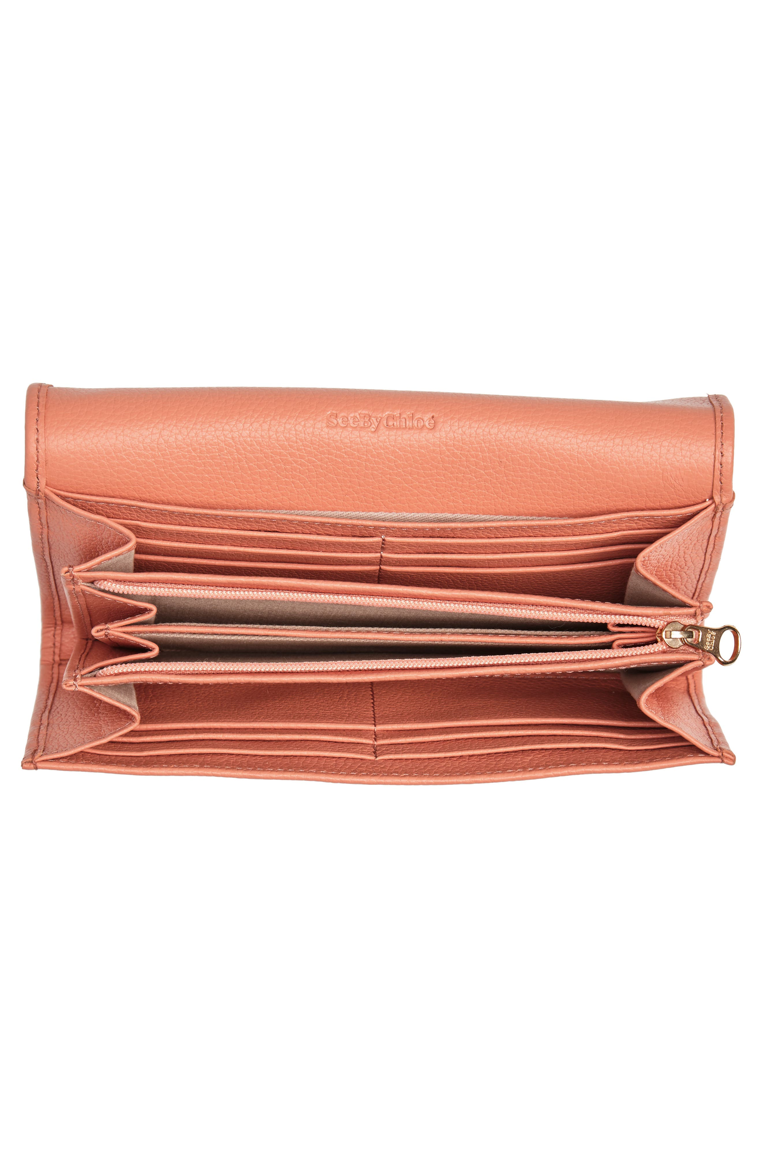 Lizzie Leather Continental Wallet,                             Alternate thumbnail 11, color,                             Canyon Sunset