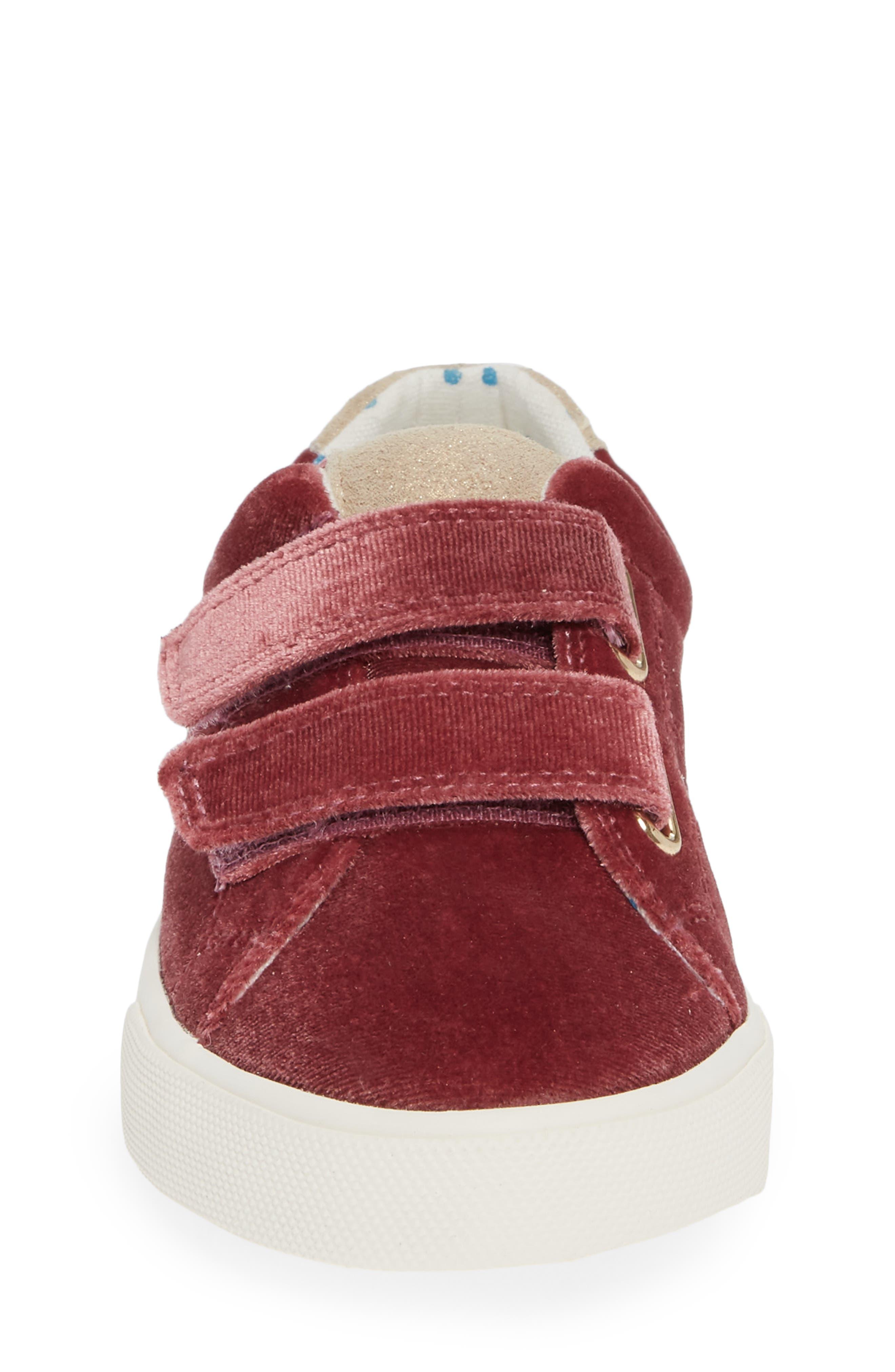 Mini Boden Fun Low Top Sneaker,                             Alternate thumbnail 5, color,                             Deep Berry