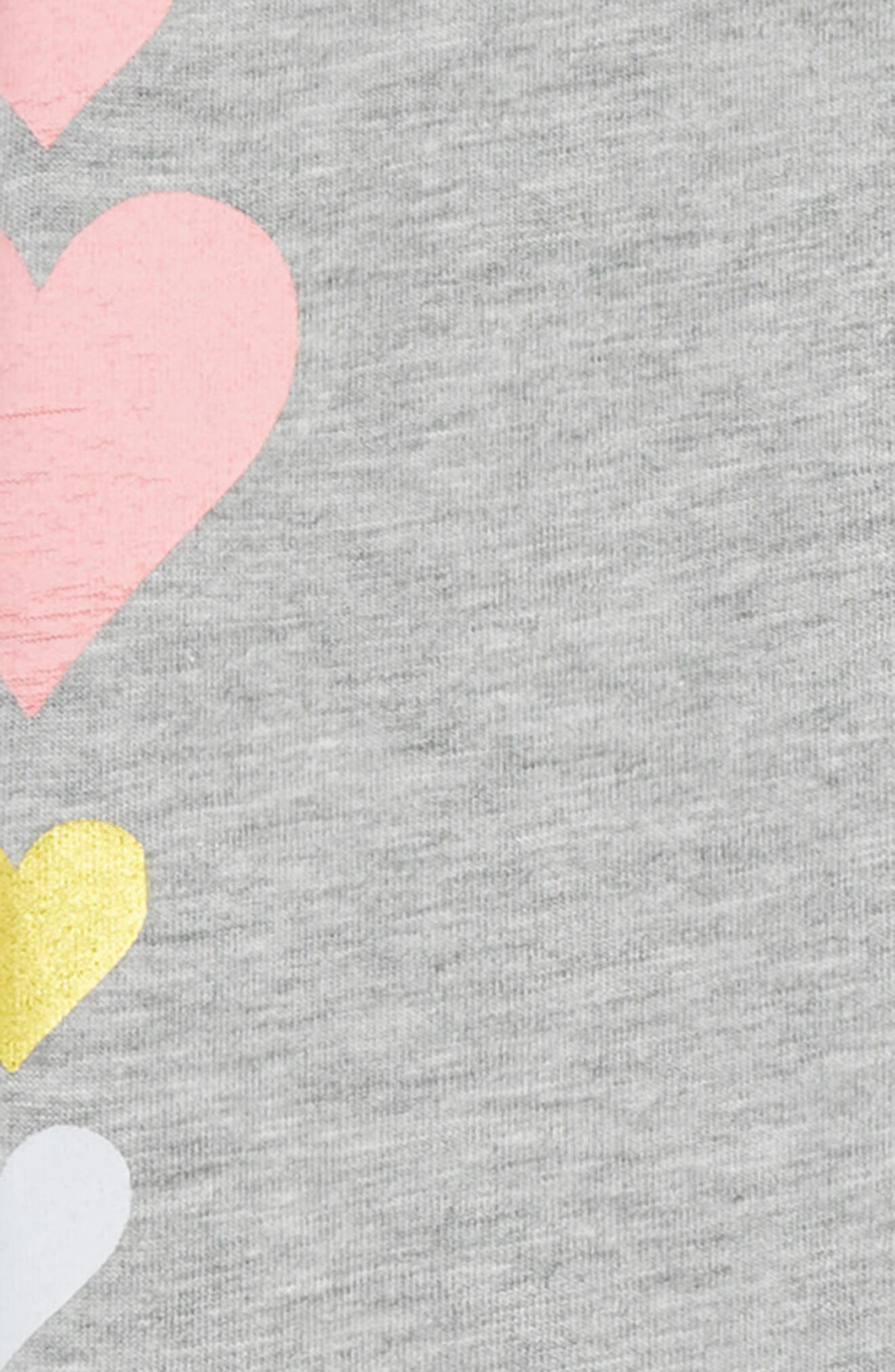 Graphic Leggings,                             Alternate thumbnail 2, color,                             Grey Md Heather Multi Heart