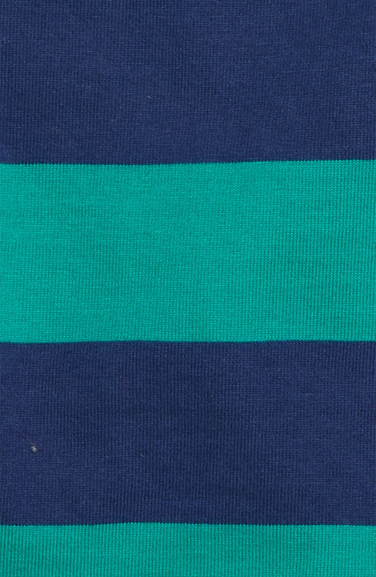 Stripy Hotchpotch T-Shirt,                             Alternate thumbnail 2, color,                             Green/ Beacon Blue