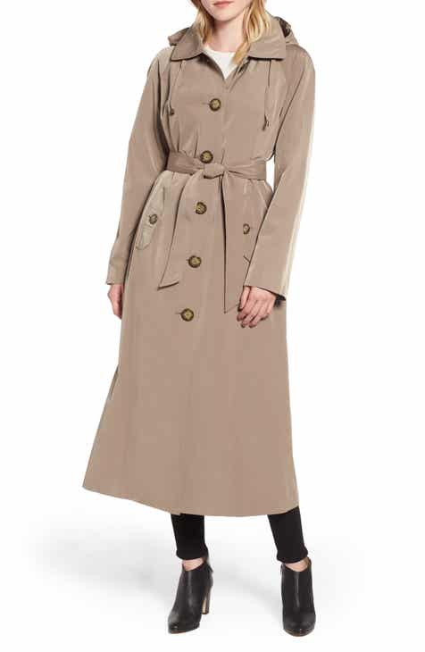 047b3f06df9ea London Fog Long Trench Coat with Detachable Hood   Liner (Regular   Petite)