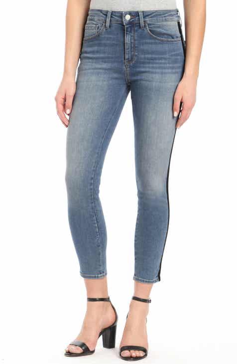 Mavi Jeans Tess Black Velvet Stripe Skinny Jeans by MAVI