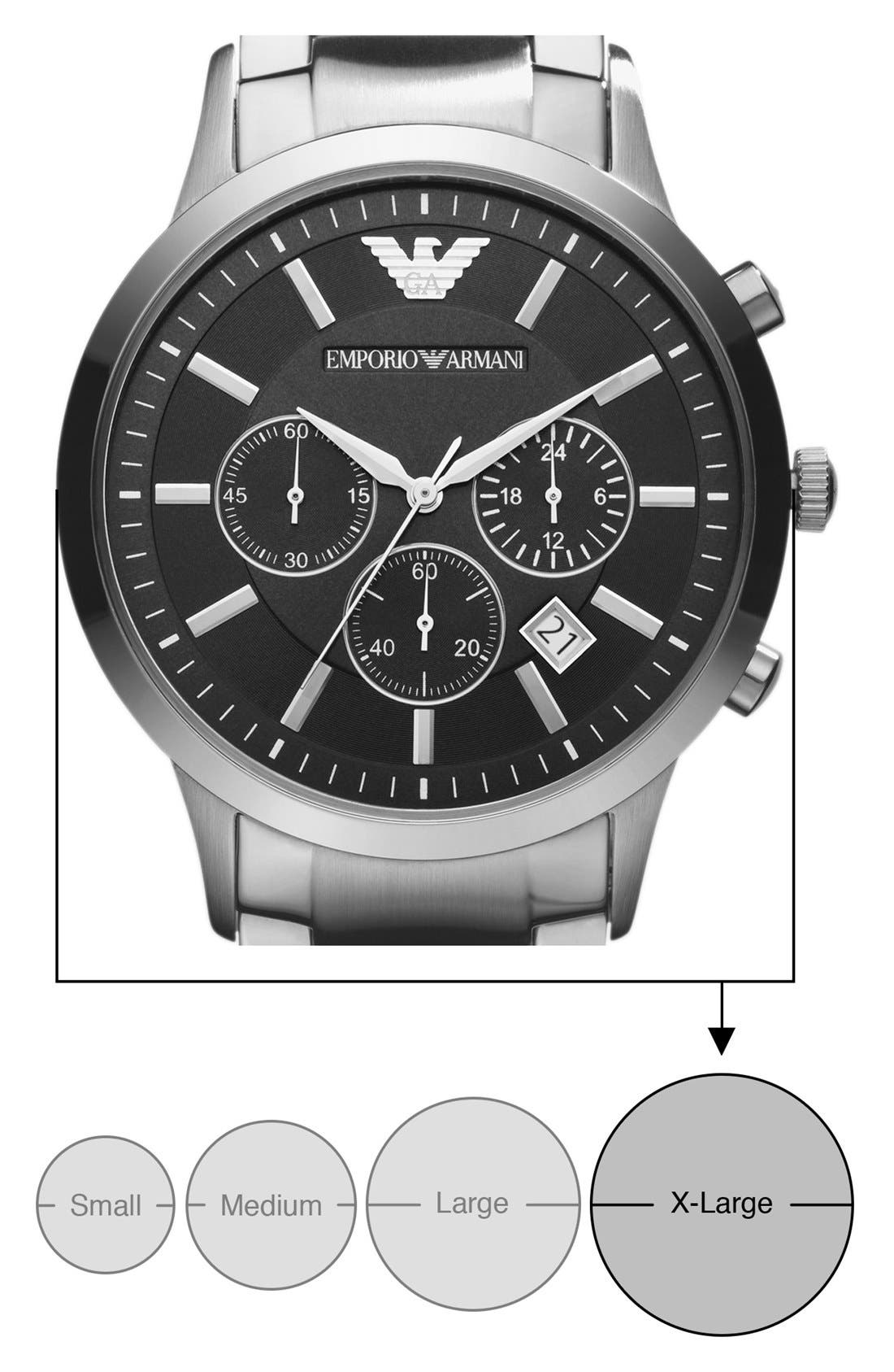 Alternate Image 2  - Emporio Armani Stainless Steel Bracelet Watch, 43mm