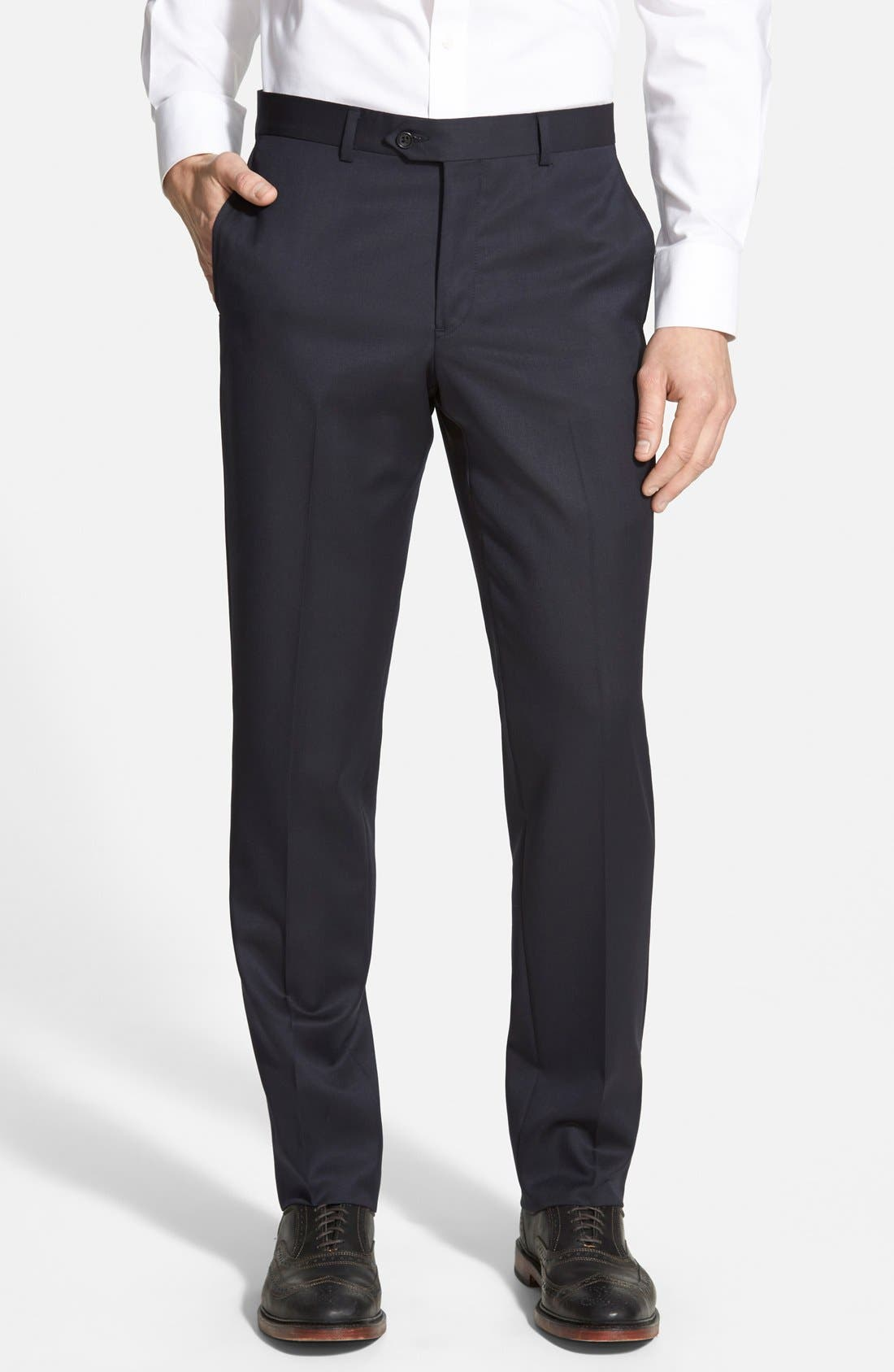 A pair of dress pants is essential for every guy's wardrobe. The staple piece is a necessity whether you wear them to the office, an interview, a wedding, or even for date night. A good pair of dress pants will make you feel polished and put together while looking sharp and stylish. Style them.