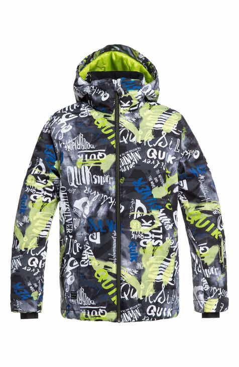 2ef47f15d27 Quiksilver Mission Print Insulated Waterproof Hooded Jacket (Big Boys)