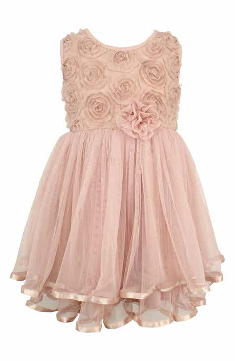 65282492038 Popatu Rosette Tulle Dress (Baby Girls)