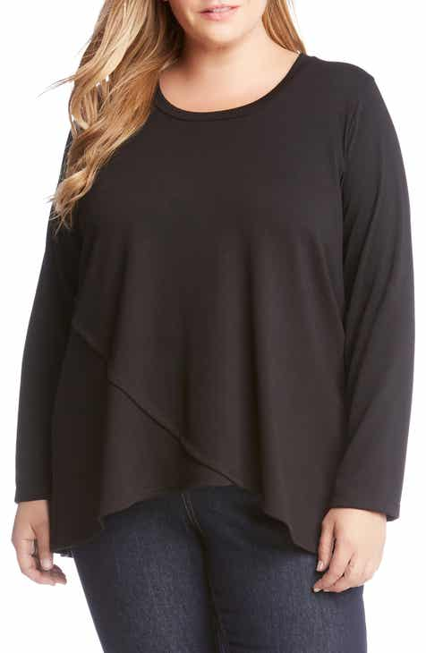 7f953a92ceb Karen Kane Long Sleeve Crossover Top (Plus Size)