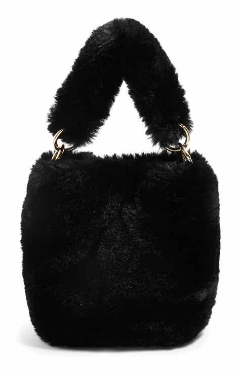 Topshop Teddy Faux Fur Bucket Bag 5a53289e9a