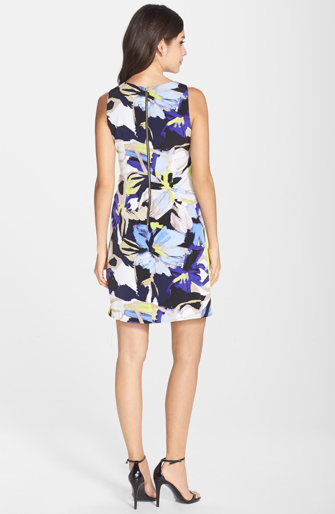 Alternate Image 2  - Vince Camuto Floral Print Shift Dress