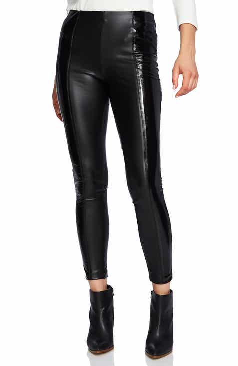1.STATE Faux Patent Leather Leggings