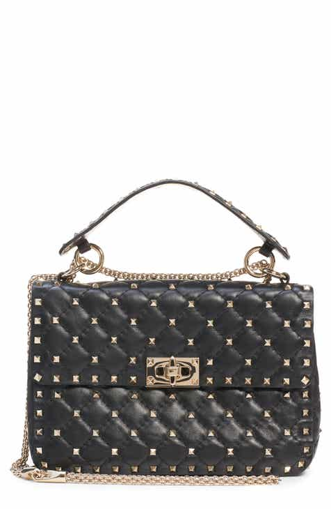 Valentino Garavani Medium Rockstud Matelassé Quilted Leather Crossbody Bag