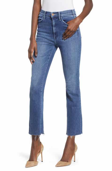 MOTHER Hustler Fray Ankle Bootcut Jeans (Groovin) f4826123ea21