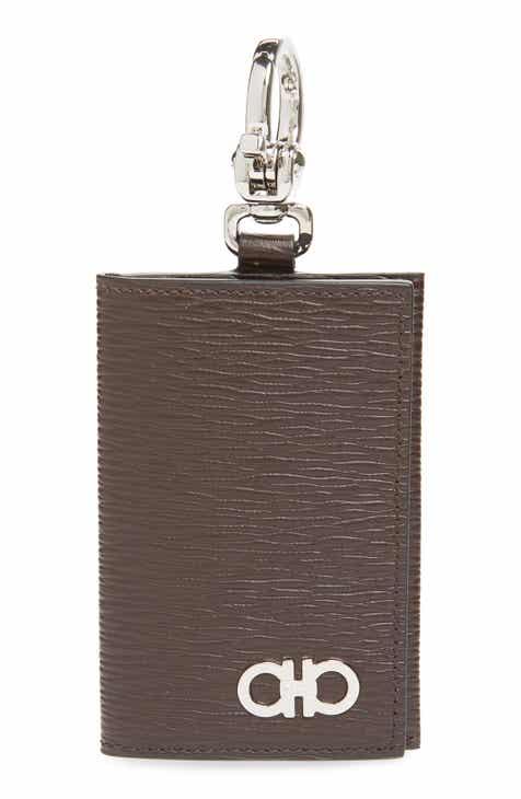 Salvatore Ferragamo Revival Leather Key Ring Card Case 3231f9a38