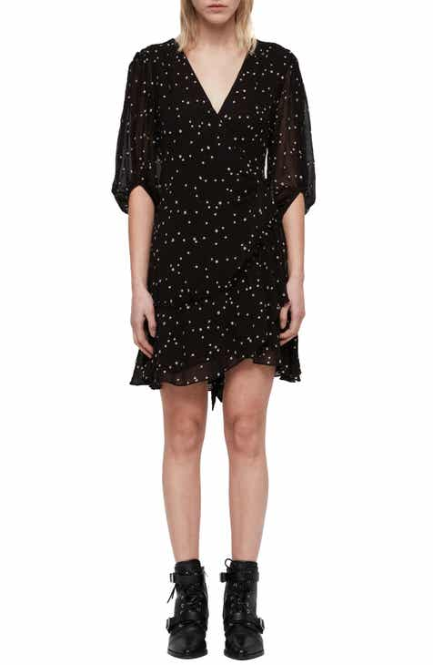 7d0b601515 ALLSAINTS Gracie Nala Wrap Dress