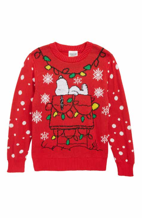 jem x peanuts snoopy light up holiday sweater toddler boys little boys
