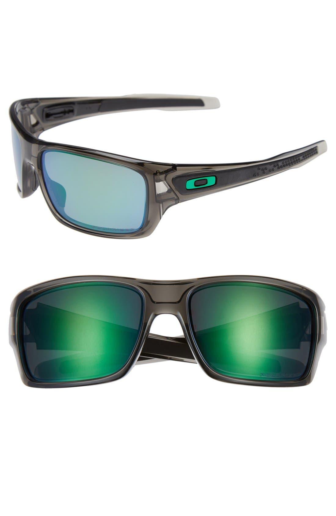 'Turbine<sup>™</sup>' 65mm Polarized Sunglasses,                             Main thumbnail 1, color,                             Grey Smoke/ Jade Iridium