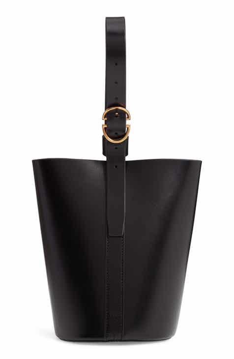 8656a1b8175 TRADEMARK Small Leather Bucket Bag