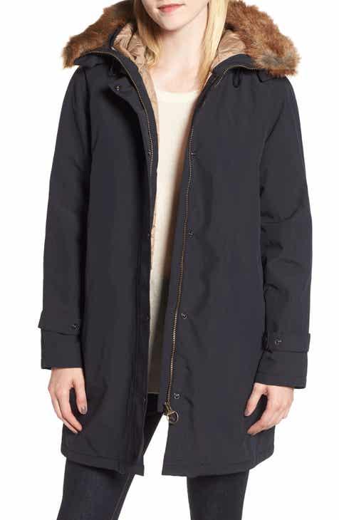 Barbour Dexy Jacket with Faux Fur Trim d248e04bd0