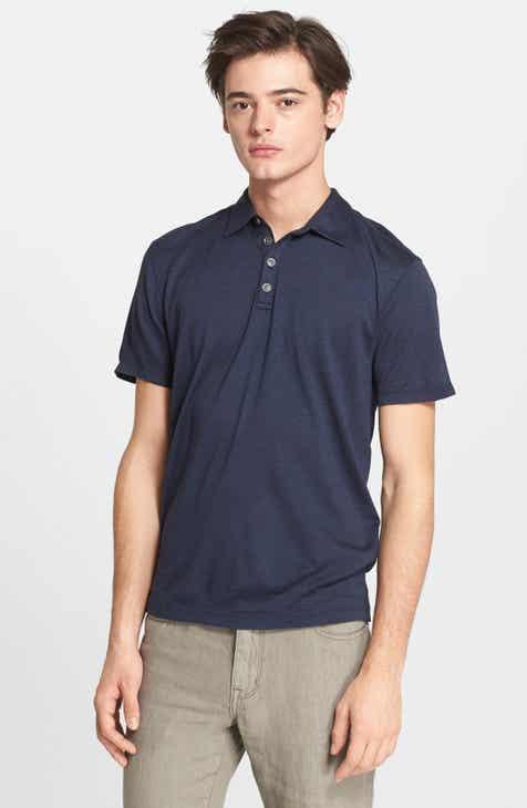 4017f310881be John Varvatos Hampton Silk   Cotton Polo