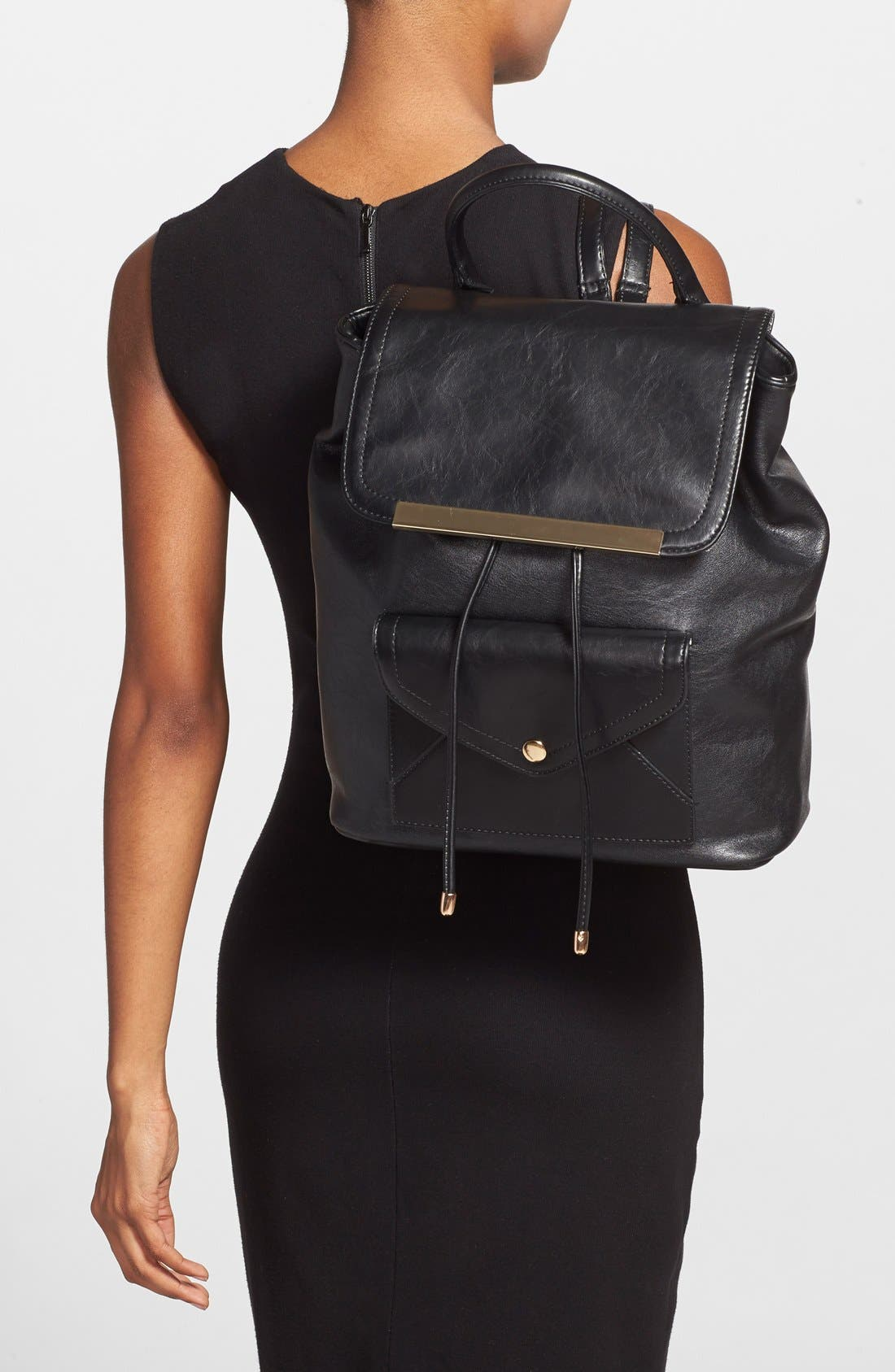 Alternate Image 2  - Cesca 'Leo' Faux Leather Backpack
