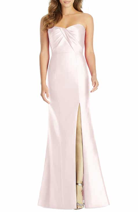 Alfred Sung Sateen Twill Strapless Sweetheart Neckline Gown 6f0dc89fb