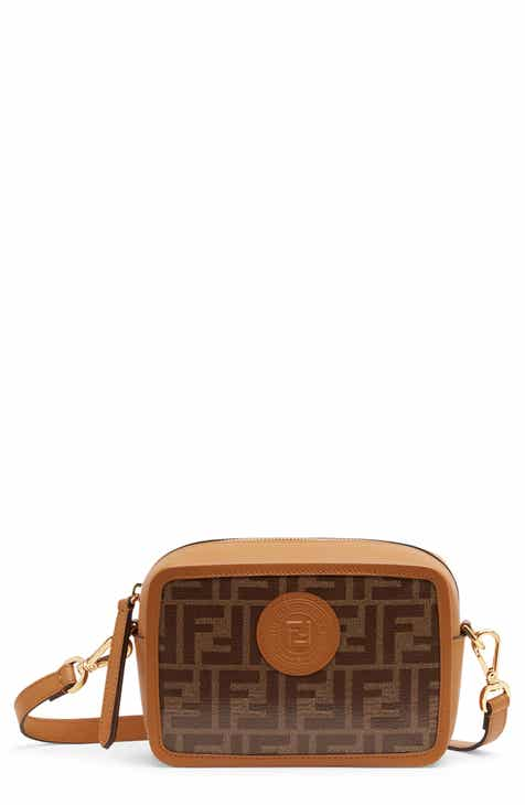 342e1aff8811 Fendi Logo Canvas Camera Bag
