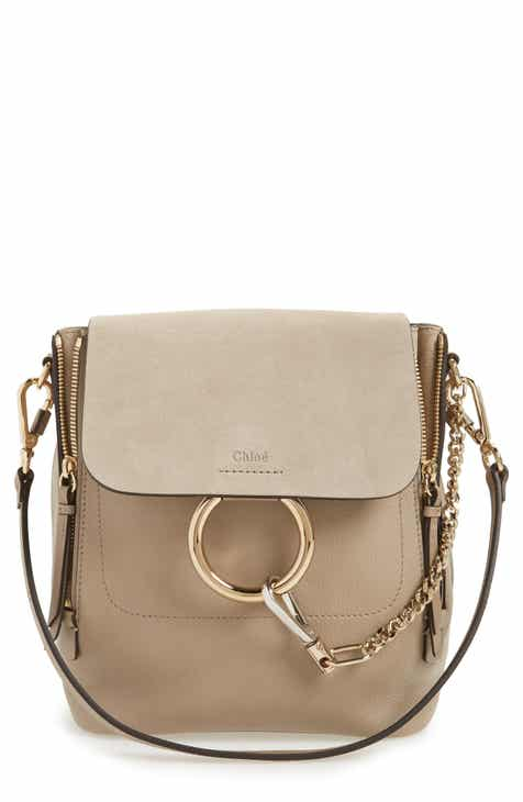 Chloé Small Faye Suede   Leather Backpack 5815e52bf9bbe