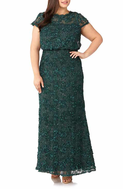35dc00a1ce9 JS Collections Sequin Lace Blouson Gown (Plus Size)