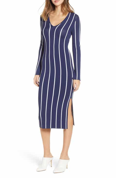 Chelsea28 Vertical Stripe Dress by CHELSEA28