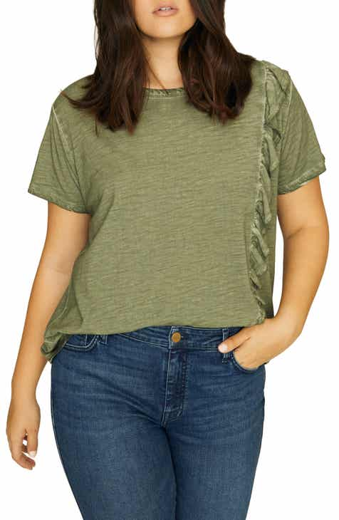 05ce2e77791 Sanctuary Gia Ruffle Trim Tee (Plus Size)
